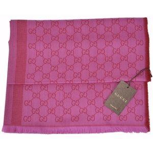 Gucci pink shawl scarf